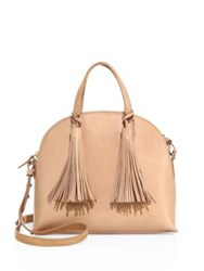 Loeffler Randall Dome Leather Satchel Natural