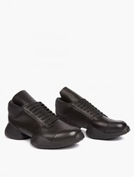 Adidas By Rick Owens Black Leather Running Sneakers