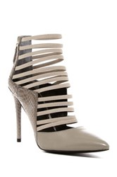 Kenneth Cole Wam Caged Pointed Toe Pump Gray