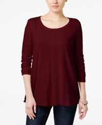 Styleandco. Style Co. Long Sleeve Swing Top Only At Macy's Deep Scarlet