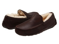 Ugg Ascot Leather China Tea Leather Men's Slippers Brown
