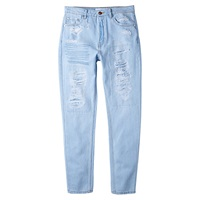 Mango High Waist Jeans Light Blue
