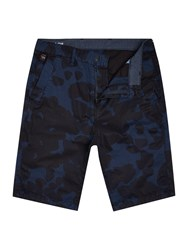 G Star Bronson Tapered Printed Shorts Blue