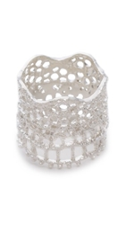 Aurelie Bidermann Vintage Lace Ring Silver