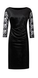 Grace Made In Britain Velour Dress Black