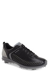 Men's Ecco 'Biom' Hydromax Waterproof Golf Shoe Black Transparent