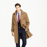 J.Crew Ludlow Double Breasted Water Repellent Trench Coat