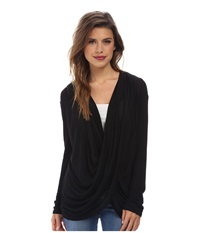 Gabriella Rocha Cowl Neck Long Sleeve Top Black Women's Clothing