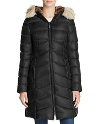 Dawn Levy Fur Trim Daphne Down Coat Black