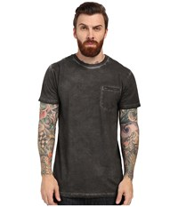 Rvca Cold Call Short Sleeve Knit Pirate Black Men's Short Sleeve Pullover