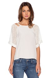 Autograph Addison Kelsey Cut Out Tee White