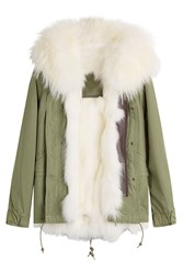 Mr And Mrs Italy Cotton Parka With Fur Lining Hood Green