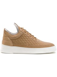 Filling Pieces Low Top Quilted Sneakers Brown