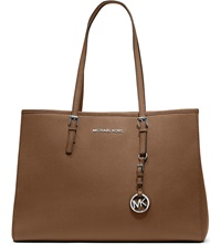 Michael Michael Kors Jet Set Travel Large Saffiano Leather Tote Luggage