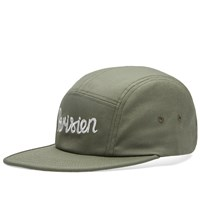 Maison Kitsune Parisien 5 Panel Cap Green