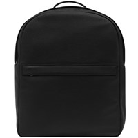 Reiss Baron Grained Leather Backpack Black