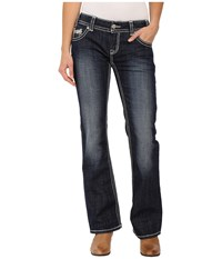 Rock And Roll Cowgirl Low Rise Bootcut In Dark Vintage W0 6418 Dark Vintage Women's Jeans Navy