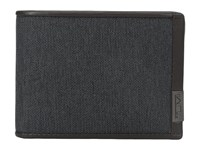 Tumi Alpha Double Billfold Anthracite Bill Fold Wallet Pewter