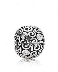 Pandora Design Pandora Clip Sterling Silver And Cubic Zirconia Wind Moments Collection Silver Clear