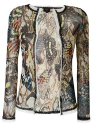 Jean Paul Gaultier Vintage Butterfly Sheer Cardigan Multicolour