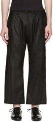 Nude Mm Black Pleated Linen Trousers