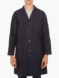 White Mountaineering Navy Cotton Blend Coat