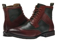 Sebago Dresden Wing Tip Boot Green Chestnut Leather Men's Boots Brown