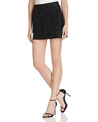 Bb Dakota Jack By Faux Suede Fringe Skirt Black