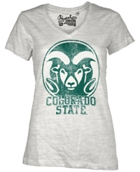 Royce Apparel Inc Women's Colorado State Rams Charlie T Shirt White