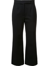 Marc Jacobs Pleated Crop Trousers Black