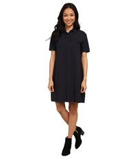 Lacoste Short Sleeve Pleated Back Pique Polo Dress Midnight Women's Dress Navy