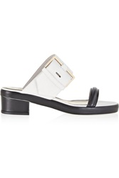 Jason Wu Two Tone Textured Leather Sandals