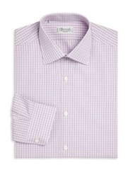 Charvet Regular Fit Check Dress Shirt Purple