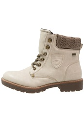 Tom Tailor Laceup Boots Offwhite Off White
