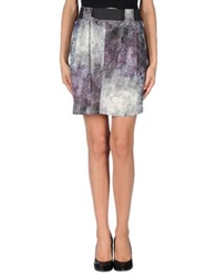 By Zoe Mini Skirts Deep Purple