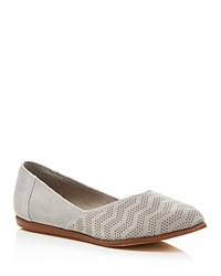 Toms Jutti Chevron Embossed Slip On Flats Drizzle Gray