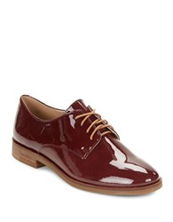 Karl Lagerfeld Iva Patent Leather Oxfords Burgundy