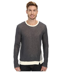 Joe's Jeans Double Sweater Knit Ace Long Sleeve Crew Heather Grey Natural Men's Clothing Gray
