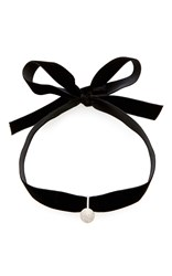 Mateo M'o Exclusive Diamond Ball Choker Black