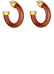 Kenneth Jay Lane Wooden Hoops Colorless