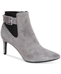 Calvin Klein Women's Jozie Studded Pointed Toe Booties Women's Shoes Grey