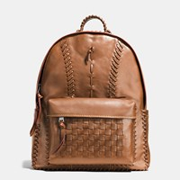 Coach Rip And Repair Campus Backpack In Sport Calf Leather Bp Dark Saddle