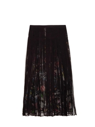 Mcq By Alexander Mcqueen Layered Festival Floral Print Chiffon Skirt