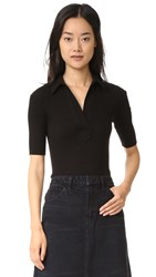 Helmut Lang Luxe Polo Tee Black