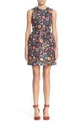 Women's Red Valentino Floral Print Fit And Flare Dress