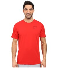 Nike Elite Back Stripe Tee University Red University Red Team Red Men's T Shirt