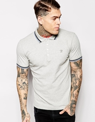 Diesel Polo T Oin Slim Fit Tipped Pique Grey