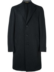 Canali Classic Single Breasted Coat Black