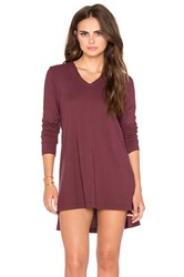 Wilt Deep V Tunic Burgundy