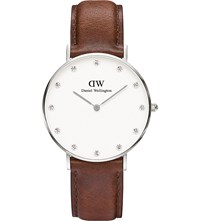 Daniel Wellington 0960Dw St Mawes Stainless Steel And Leather Watch White